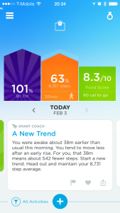 The Jawbone UP app