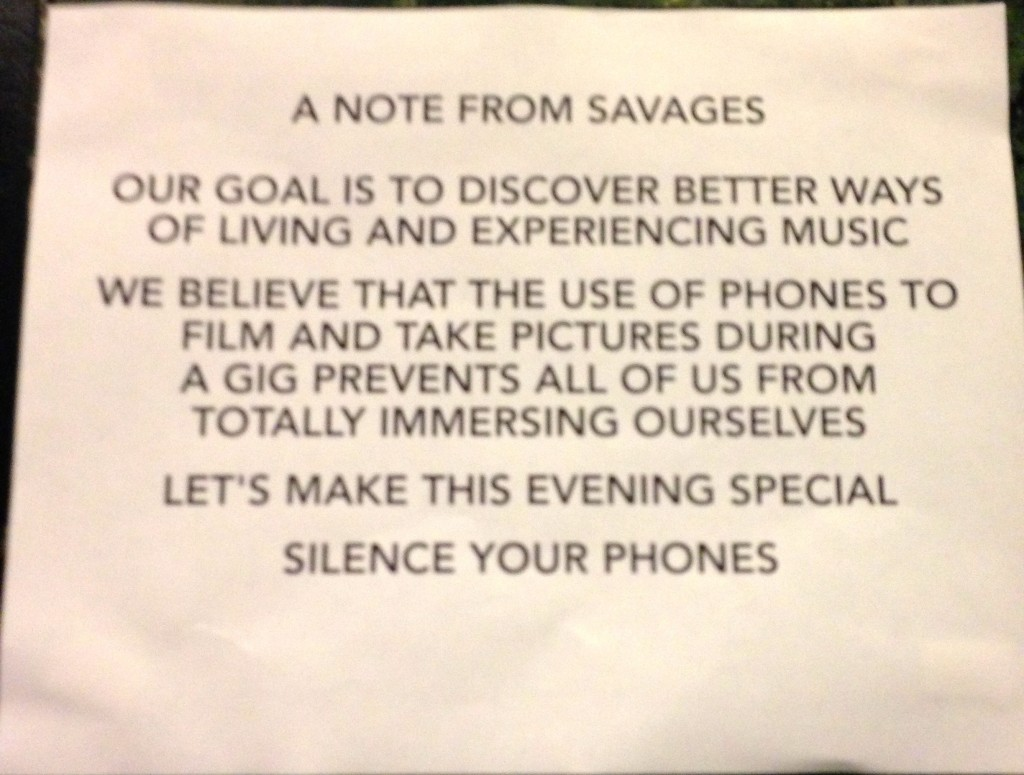 A Note from Savages