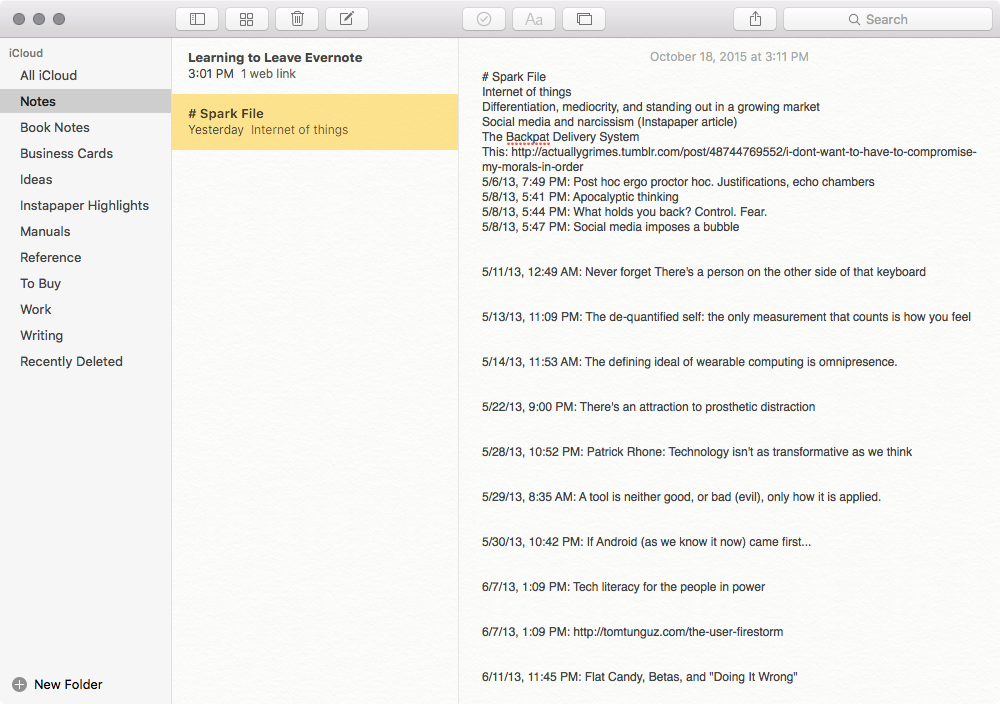 Notes for Mac Screenshot